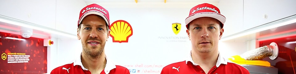 Sebastian Vettel et Kimi Raikkonen assurent la promotion de Shell V-Power